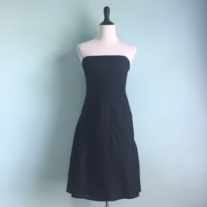 GAP Strapless Textured Little Black Dress